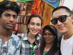 韩庚卢靖姗合体游印度,晒照帮导游打广告很接地气