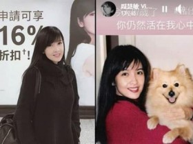 周慧敏悼念已逝爱犬 网友关注照片52岁还是25岁样子