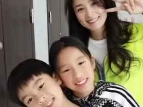 张庭带儿女跳舞 母子三人在一起完全就是姐弟