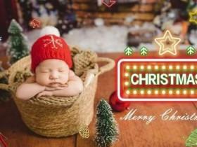 王祖蓝女儿正面照祝大家圣诞快乐