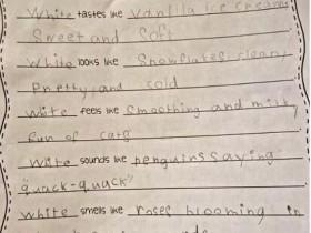 昆凌晒6岁女儿手写英文诗