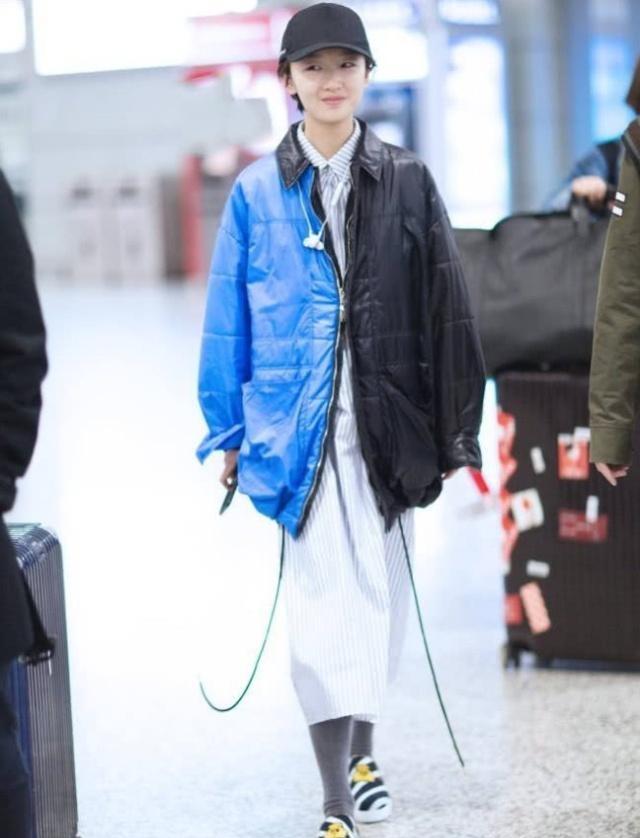 周冬雨怕冷不想挽裤脚,助理让其穿上堆堆袜,效果好极了
