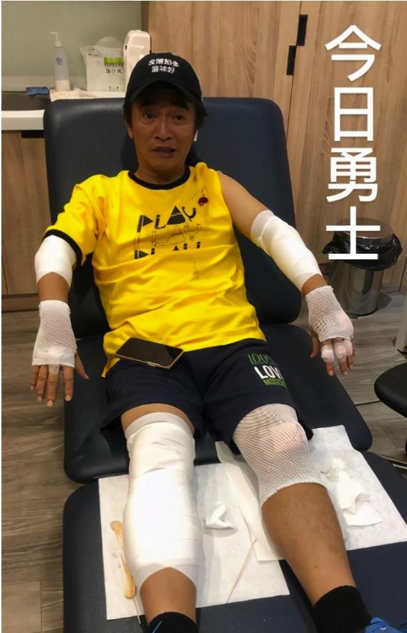 吴宗宪录节目摔车 录制《综艺玩很大》外景出意外