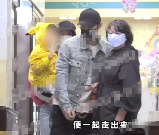 黄晓明Baby带儿子就医