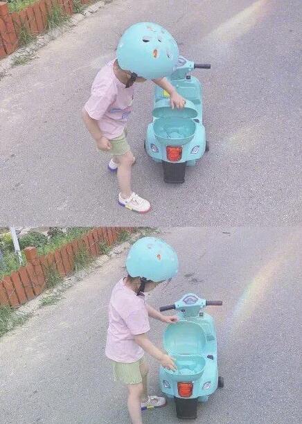 孙怡女儿骑车背影照