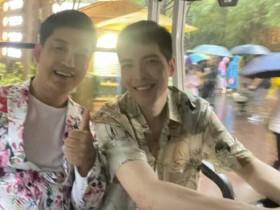 萧敬腾在广州参加活动下大雨 雨神的称号没白叫