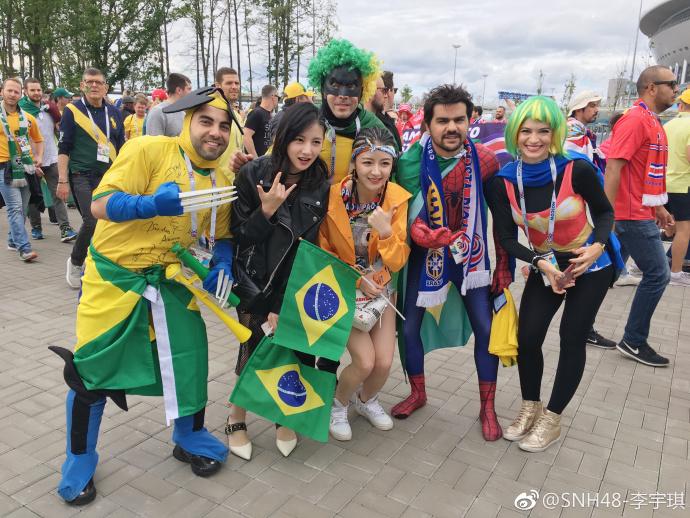 俄罗斯世界杯打callSNH48赵粤李宇琪受邀